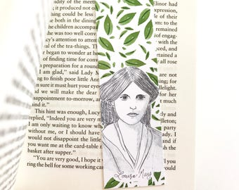 Louisa May Alcott Bookmark - literary - Louisa May Alcott Little Women