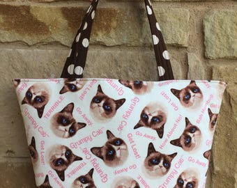 Grumpy Cat Inspired Handbag/Shoulder Bag