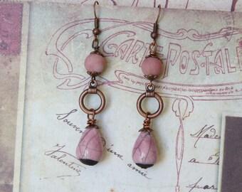 Beaded Earrings, Bohemian Jewelry, Artisan Jewelry, Back To School, Handmade, Womens Gift, Teen Gift Earrings, Dangle Earrings