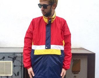 Color block Windbreaker Jacket size M