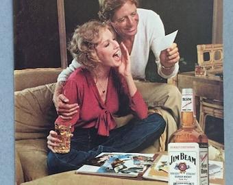 1980 Jim Beam Bourbon Whiskey Print Ad - Vintage Bourbon Ad
