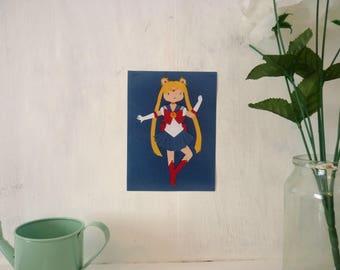Sailor Moon ∙ Digital mini print ∙ Cute magical girl anime art