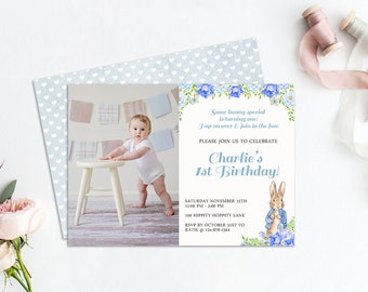 Peter Rabbit Invitation, Beatrix Potter Invitation, Birthday Invitation, Printable Invitation, Peter Rabbit Baby Shower, Peter Rabbit Invite