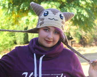 Pokemon Furret Hat, Pokemon Go Hat, Furret Pokemon hat, Poke'mon Furret hat