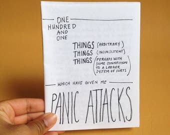 One Hundred Things which have given me Panic Attacks: Zine