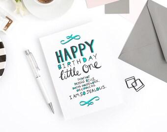 Funny Birthday Card - I'm So Jealous - Child Birthday, First Birthday, Nephew Birthday, Niece Birthday