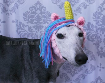 Unicorn Crochet Snood for Greyhounds