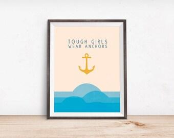 Navy Family Print - Deployment Gift - Navy Art - Girlfriend Gift - Nursery Art - Poster - US Navy - Military Navy Wife -  Minimalist Print