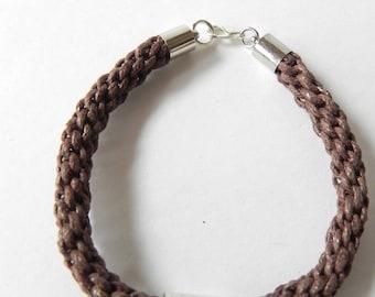 Handmade Bracelet, leather brown bracelet, gift for him, men bracelet, accesories, bisutria, handmade bracelet
