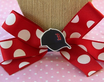 Red Sox Hair Bow