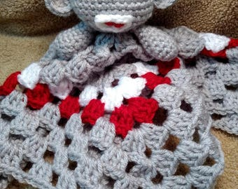 Sock Monkey Lovey Blanket