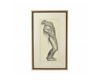 """Vintage """"Lord, Oh my Lord"""" Iver Rose WPA Era Social Realism Lithograph African American"""