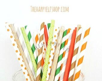 Woodland theme party straws. Woodland straws. fox straws. woodland party. woodland party decor. woodland decor. woodland cake pop sticks.