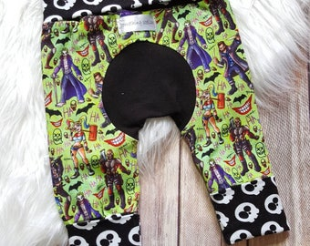 Suicide Squad maxaloones ~ Miniloones, fit 3-12M ~ Great for cloth diapers ~ Ready to Ship!