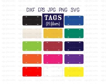 LICENSE PLATE, License Tag, Tag Plate, Digital Car Tag, Cut File, Vector Tag, SVG File, Car Tag, Instant Download, dxf eps jpg png svg