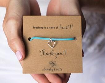 Teacher appreciation gifts - teacher appreciation week - thank you teacher -  teaching is a work of heart - christmas teacher gifts - custom