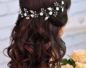 Wedding headband Bridal hair jewelry Crystal hairpiece Wedding accessories Rhinestone headpiece Bridal hair piece Bridal headband silver