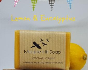 Lemon and Eucalyptus Handmade Soap.