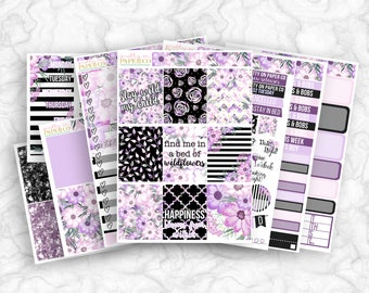 Wildflower No White-Space Weekly Kit - Planner Stickers