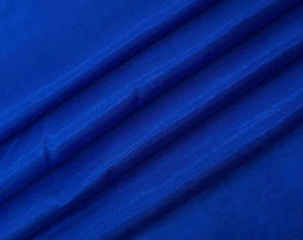 "Indian SIlk Fabric, Royal Blue Fabric, Sewing Crafts, Home Decoration, 41"" Inch Shantung Fabric By The Yard ZSH1O"