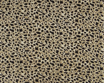 "Cotton Fabric, Indian Dress Material, Leopard Print, Sewing Crafts Accessories, 42"" Inch Designer Fabric By The Yard ZBC8944A"