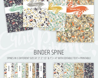 Binder cover printable 4x set Covers & Spines • Binder insert • Planner cover • Teacher binder • School binder inserts