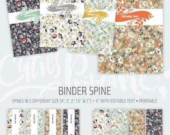 Binder cover printable 4x set Covers & Spines • Binder insert • Planner cover • Teacher binder • School binder inserts