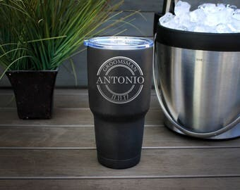 30 oz Engraved Tumbler, Custom Tumbler, YETI like, Stainless steel Travel Mug, Vacuum Insulated Mug, Personalized Tumbler--pc30-b-ANTONIO