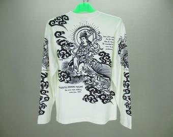 TEDMAN Shirt Men Size XS/S Ted Company T Japanese Buddhistic Art T Bakuretsu Ranman Musume Size 38