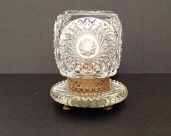 Vintage Crystal Czechoslovakia Vanity Lamp