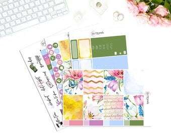 Fresh Floral || MINI Weekly Kit || Stickers for use with the Erin Condren Life Planner