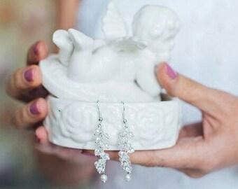 Crystal earrings, bridal earrings, wedding earrings, bridal jewelry, wedding jewelry