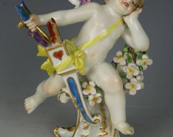 """Meissen Figurine Q162 """"Cupid With Bow And Arrow"""""""