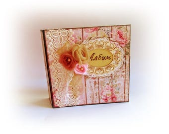 Personalized Scrapbook Album Family Album Photo Album Family Gift Wedding Gift Anniversary Gift Shabby Chic Photo Album Personalized Gift