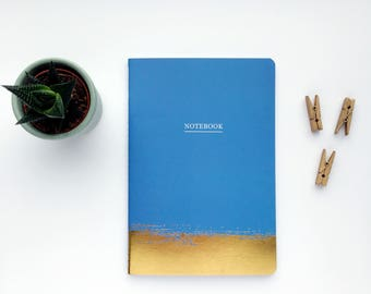Blue and gold notebook