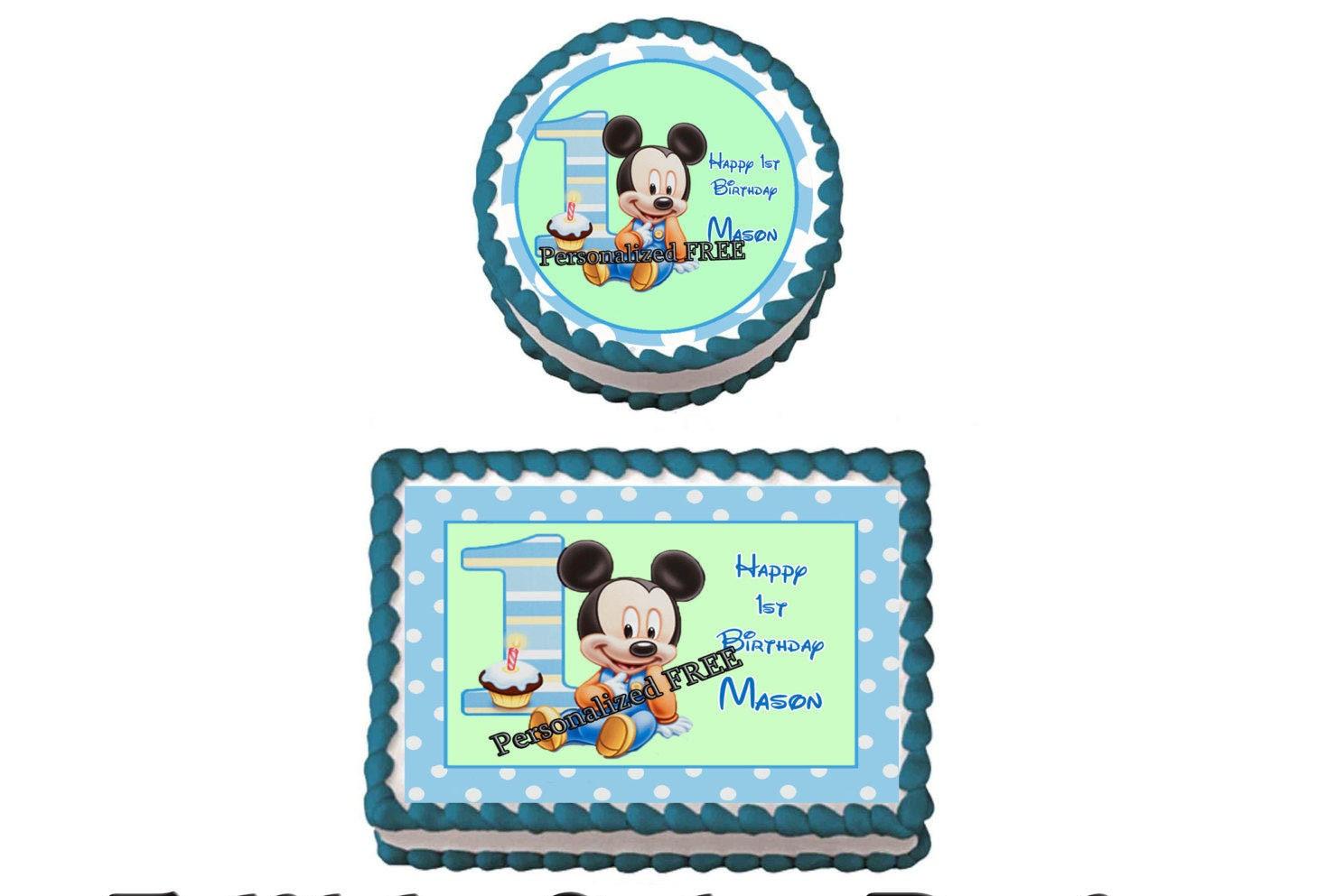 Mickey Mouse Edible Cake Topper Australia