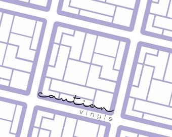 Tetris Nail Vinyls - Nail Stencil for Nail Art