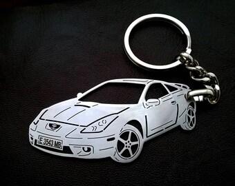 Gentil Toyota Celica, Toyota Personalized Key Chain, Toyota Tacoma, Custom  Keychain, Stainless Steel