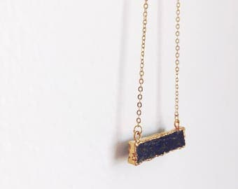 Lapis Lazuli Necklace, Blue and Gold Necklace, Gold Necklace, Trendy Necklace, Minimal Necklace, Spring Jewelry
