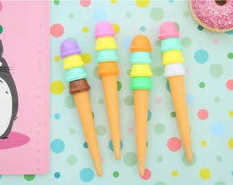 12 Ice Cream Pens, Party Pack Size, Favors, Gifts