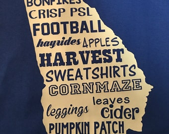 Fall state of georgia shirt