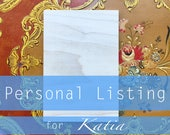 Personal Listing for Katia 4x6 Wood Acrylic Painting Portrait