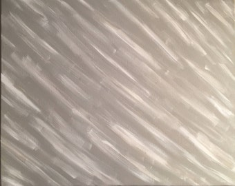 55- original abstract acrylic painting on canvas - wall art - 16x20 (grey & white)