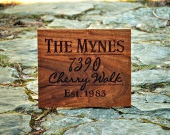 Address Plaque/House Number Plaque/ Address Plaques /Wood House Number/ Modern Address Sign/ Hanging Address Sign/ Outdoor Wood House Sign