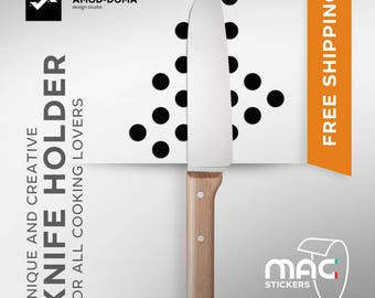 Unique Knife Holder - MAGstickers DOTs | Unique Gift for Kitchen | Gift for Mom | Gift for Women | Kitchen Decor | FREE SHIPPING |