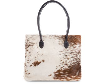 Cowhide Tote | Exact Bag you Will Receive | Handcrafted in England