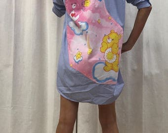 Care Bears Dress Shirt Dress Sweet Lolita Dress Vintage 2005 Fabric Eco Size 8