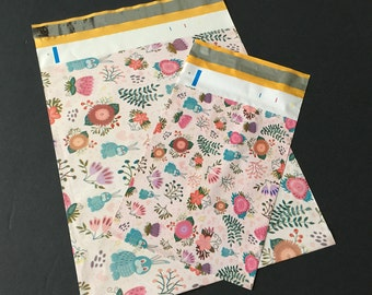 100 6x9 and 10x13 RABBITS Poly Mailers 50 each Self Sealing Envelopes Shipping Bags Easter Bunnies