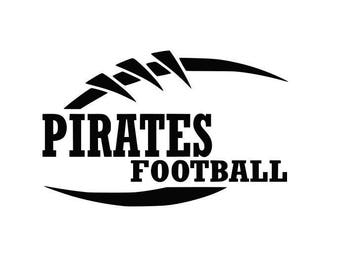 Pirates Football high school college SVG File Cutting, DXF, EPS design, cutting files for Silhouette Studio and Cricut Design space Sport