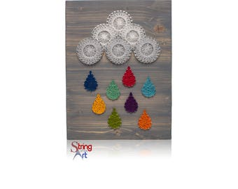 Sunflower string art kit diy kit adult crafts sunflower diy string art kit diy kit crafts kit string art raindrops colorful prinsesfo Choice Image